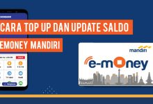 top up emoney mandiri dan update saldo